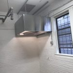 Installed the industrial kitchen exhaust hood